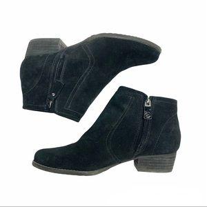 Blondo black suede waterproof zipper ankle boots 6